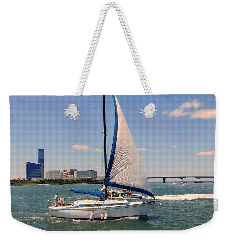 Atlantic City Weekender Tote Bag featuring the photograph Atlantic City Series -12 by Arlane Crump