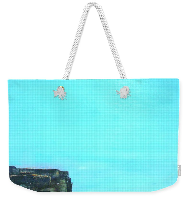 Weekender Tote Bag featuring the painting Atlantic by Martha Dolan