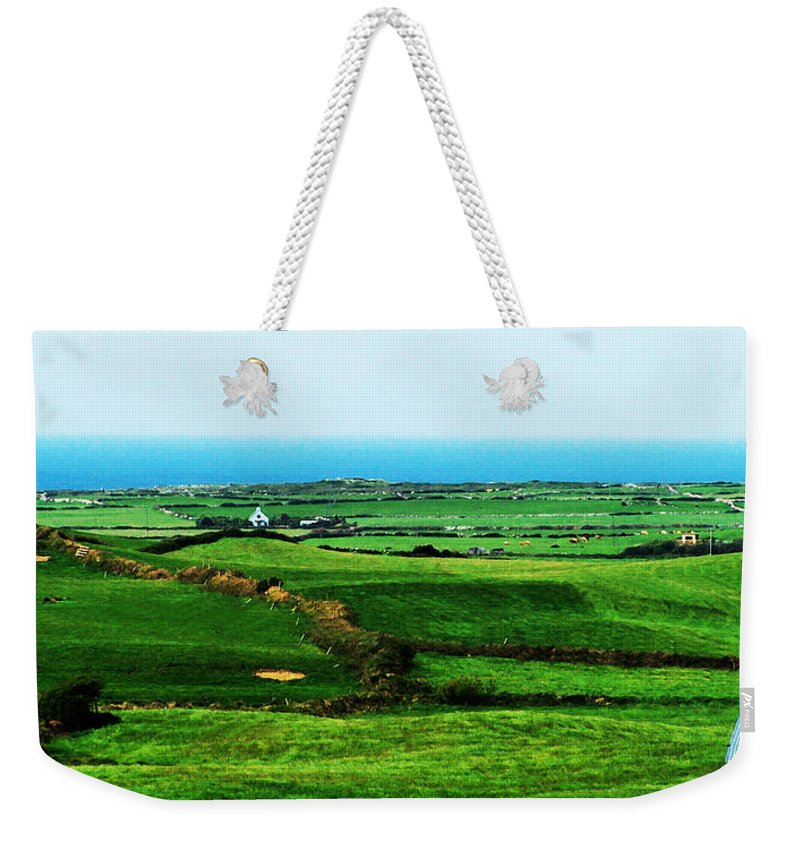 Ireland Weekender Tote Bag featuring the photograph Atlantic View Doolin Ireland by Teresa Mucha