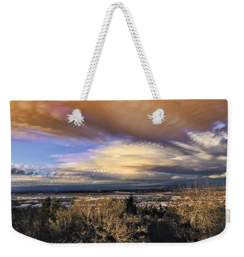 Atmospheric Disturbance Weekender Tote Bag featuring the photograph Atmospheric Disturbance by Wes and Dotty Weber