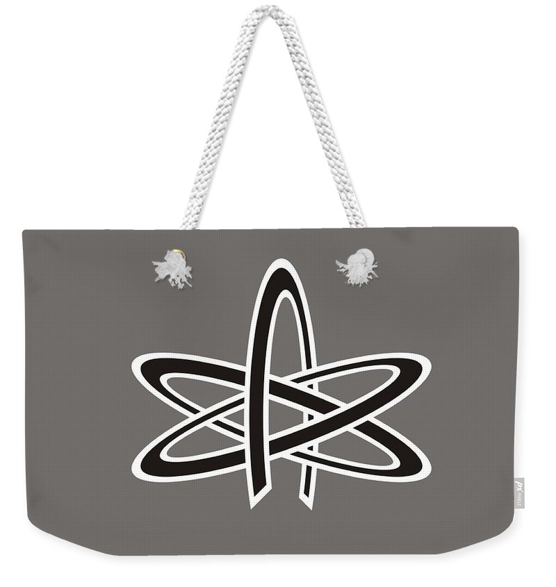Religion Weekender Tote Bag featuring the digital art Atom Of Atheism by Frederick Holiday