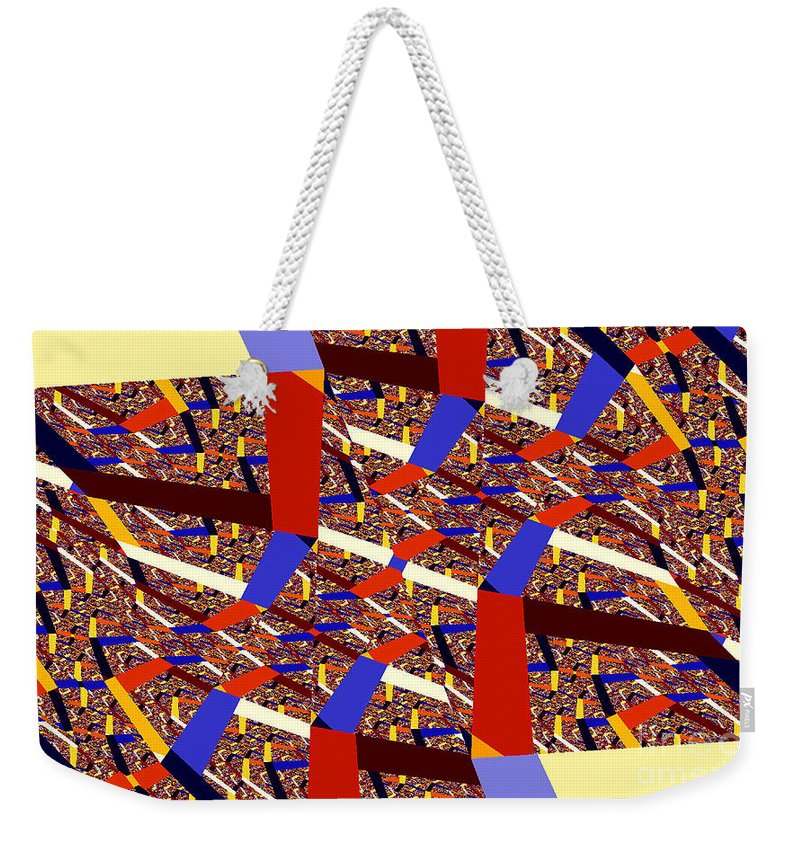 Clay Weekender Tote Bag featuring the digital art Atomic Link by Clayton Bruster