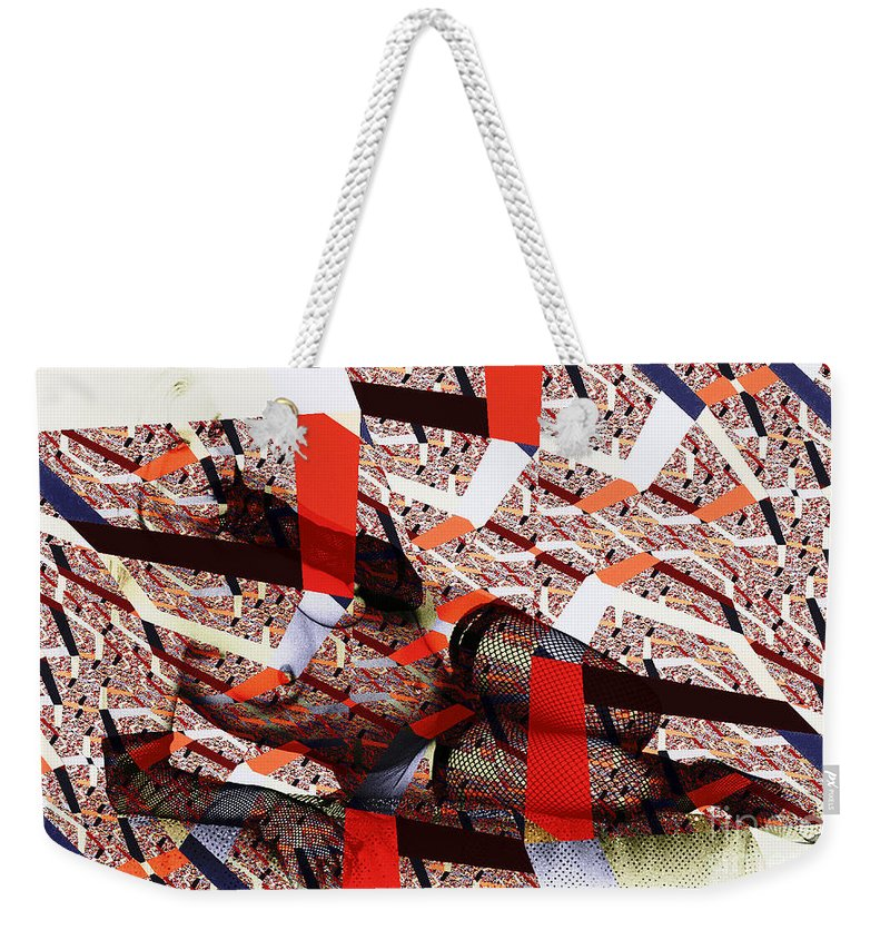 Clay Weekender Tote Bag featuring the photograph Atomic Link Pinup by Clayton Bruster