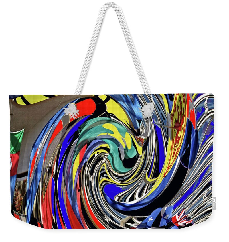 Abstract Weekender Tote Bag featuring the photograph Atrium by Ian MacDonald