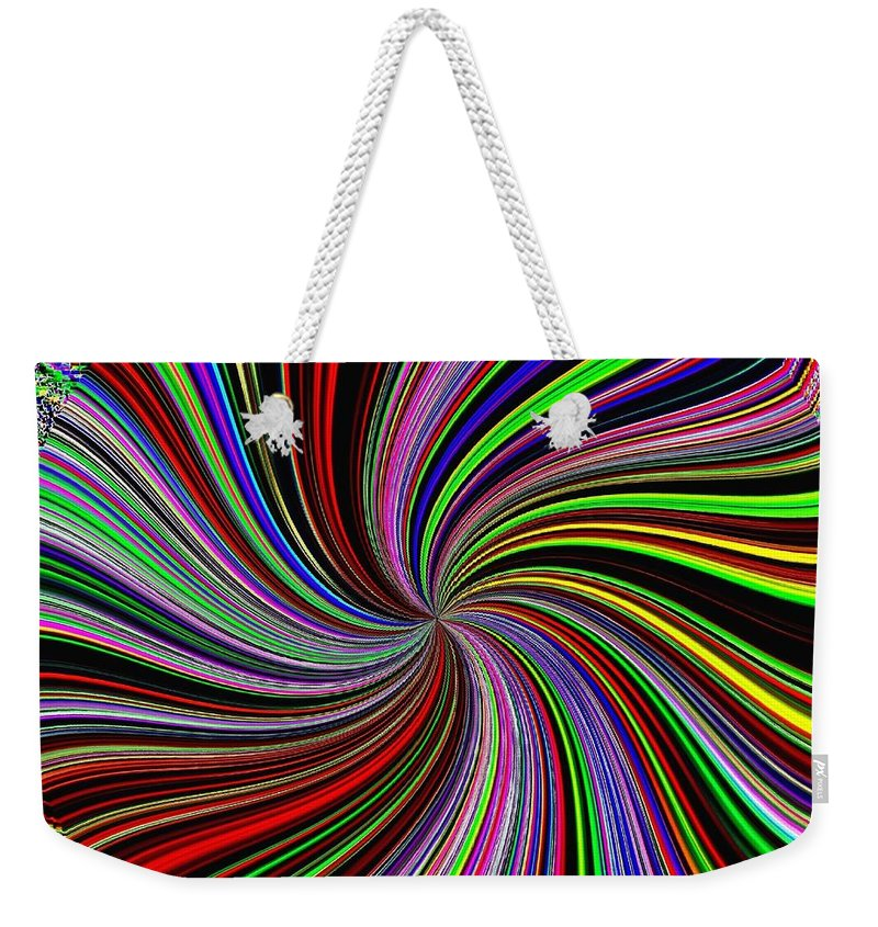 Abstract Weekender Tote Bag featuring the digital art Attitude by Will Borden
