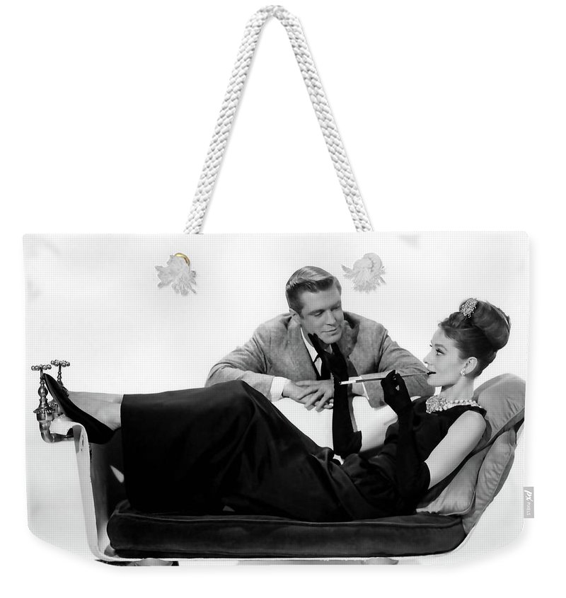 05445f46bb Audrey Hepburn Weekender Tote Bag featuring the photograph Audrey Hepburn  Holly Golightly Breakfast At Tiffanys by