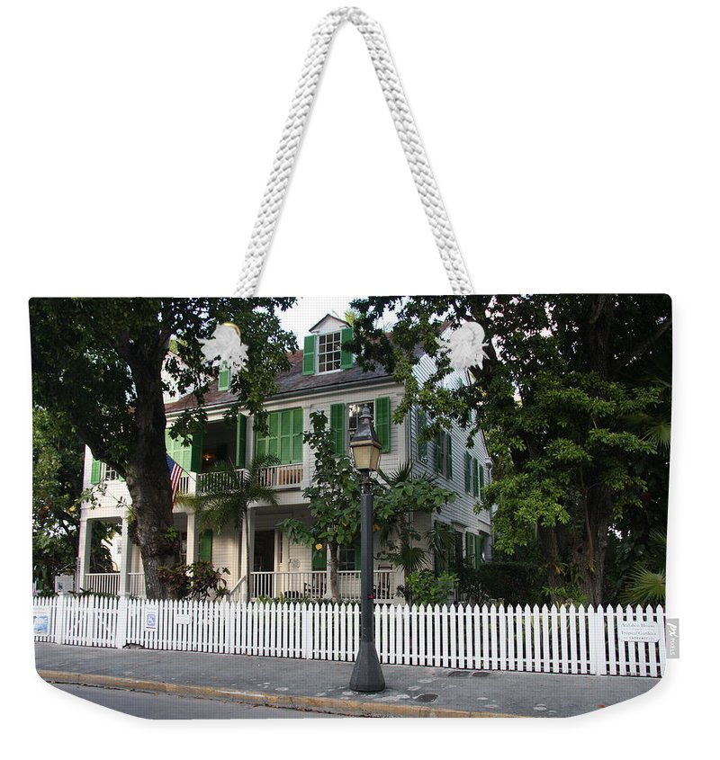 House Weekender Tote Bag featuring the photograph Audubon House Key West by Christiane Schulze Art And Photography