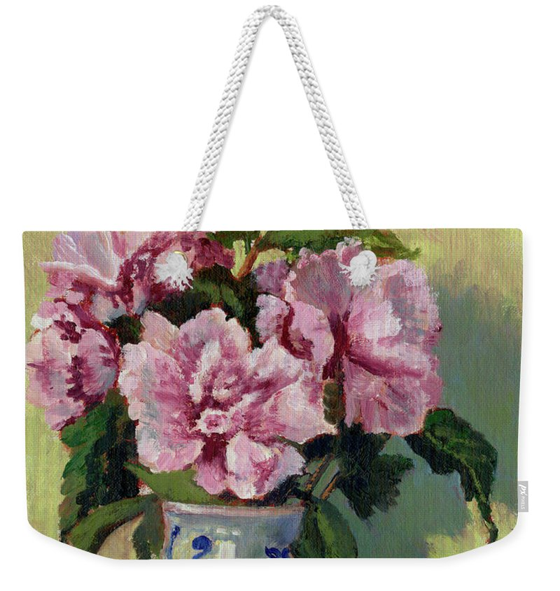 Impressionism Weekender Tote Bag featuring the painting August Blossoms by Keith Burgess