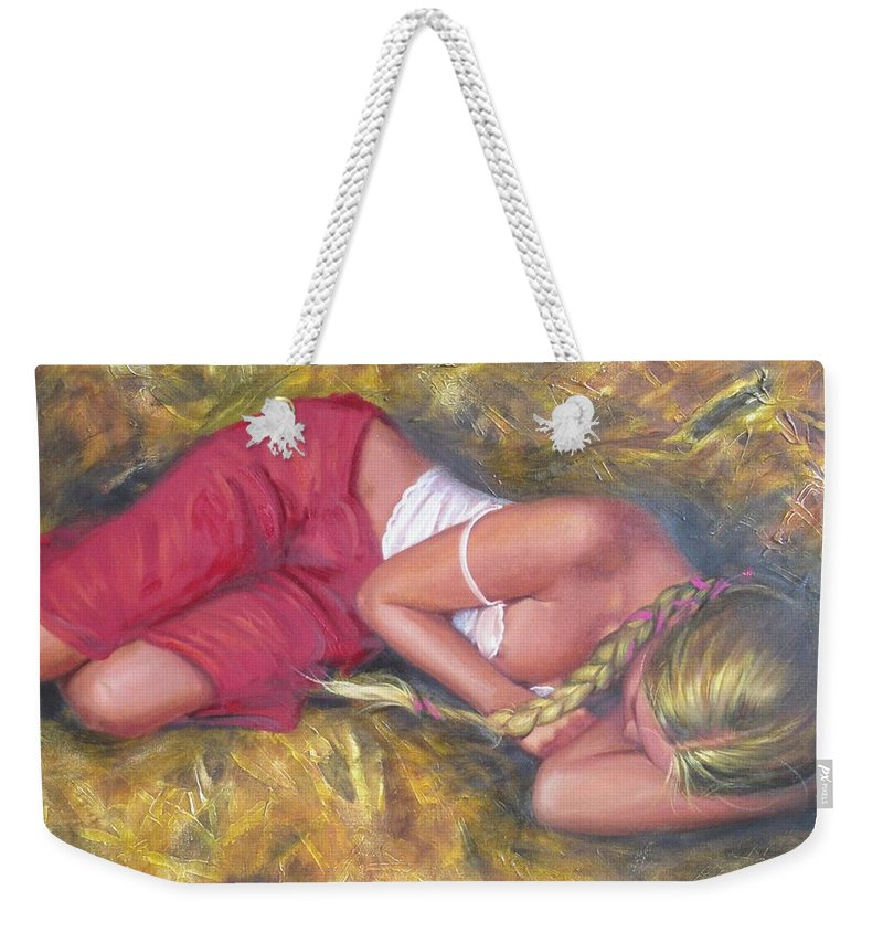Ignatenko Weekender Tote Bag featuring the painting August by Sergey Ignatenko