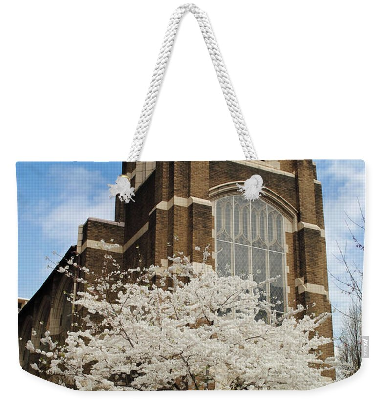 Augustana Weekender Tote Bag featuring the photograph Augustana Lutheran by Jost Houk