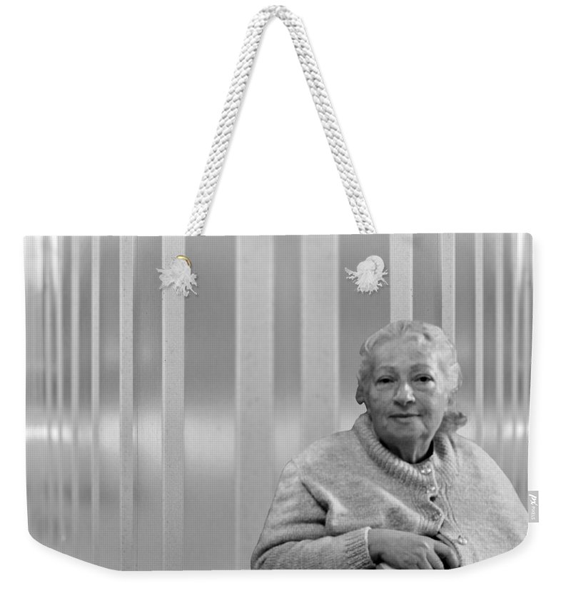 Portrait Weekender Tote Bag featuring the photograph Aunt Hanneh by Munir Alawi
