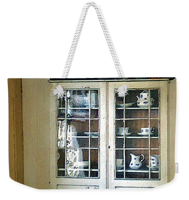 Room Weekender Tote Bag featuring the painting Aunt Mae's China Closet by RC deWinter