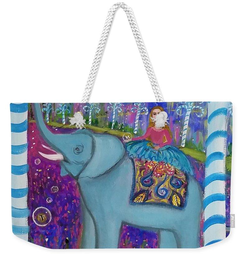 Fantasy Weekender Tote Bag featuring the painting Aurelia by Deyanira Harris