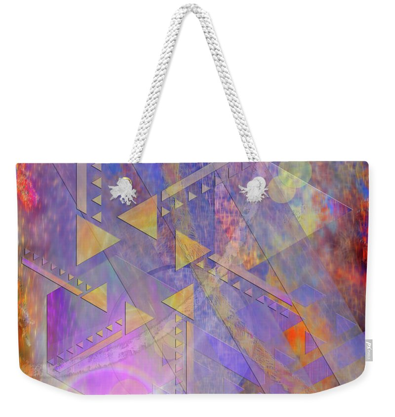 Aurora Aperture Weekender Tote Bag featuring the digital art Aurora Aperture by John Beck