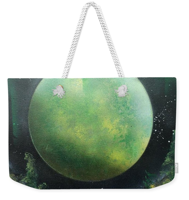 Landscape Weekender Tote Bag featuring the painting Aurora by Tyler Haddox