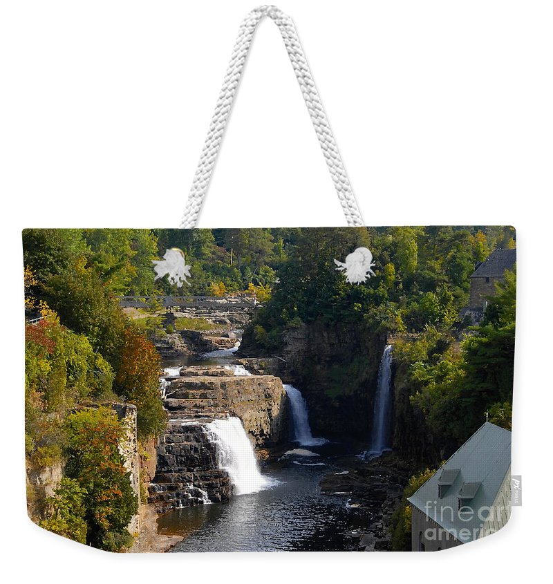 Ausable River Weekender Tote Bag featuring the photograph Ausable Falls by David Lee Thompson