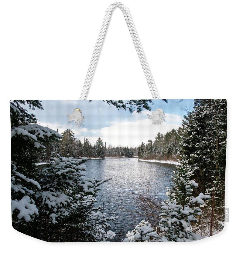 Ausable Weekender Tote Bag featuring the photograph Ausable River 4820 by Michael Peychich