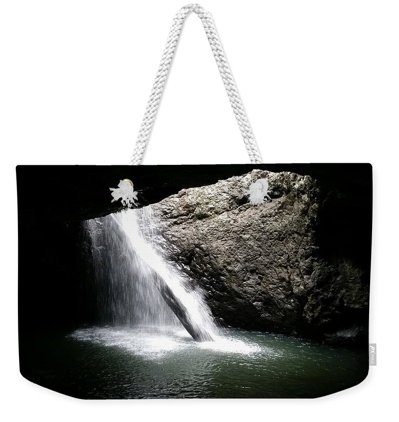 Australia Weekender Tote Bag featuring the photograph Australia - Welcome To Natural Arch Waterfall by Jeffrey Shaw