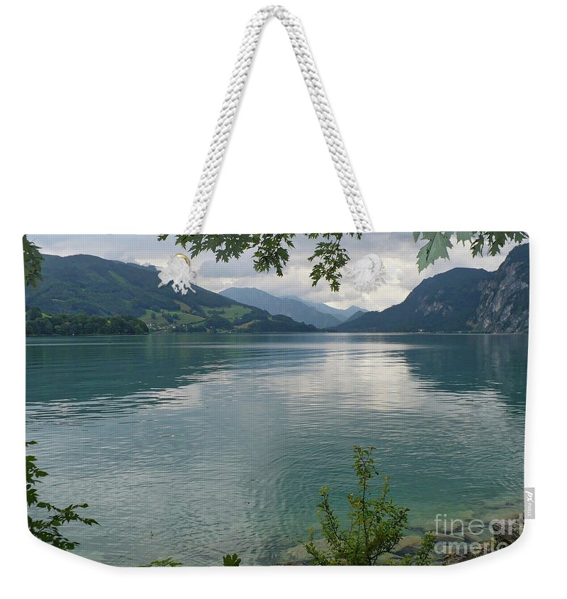 Austria Weekender Tote Bag featuring the photograph Austrian Lake by Carol Groenen