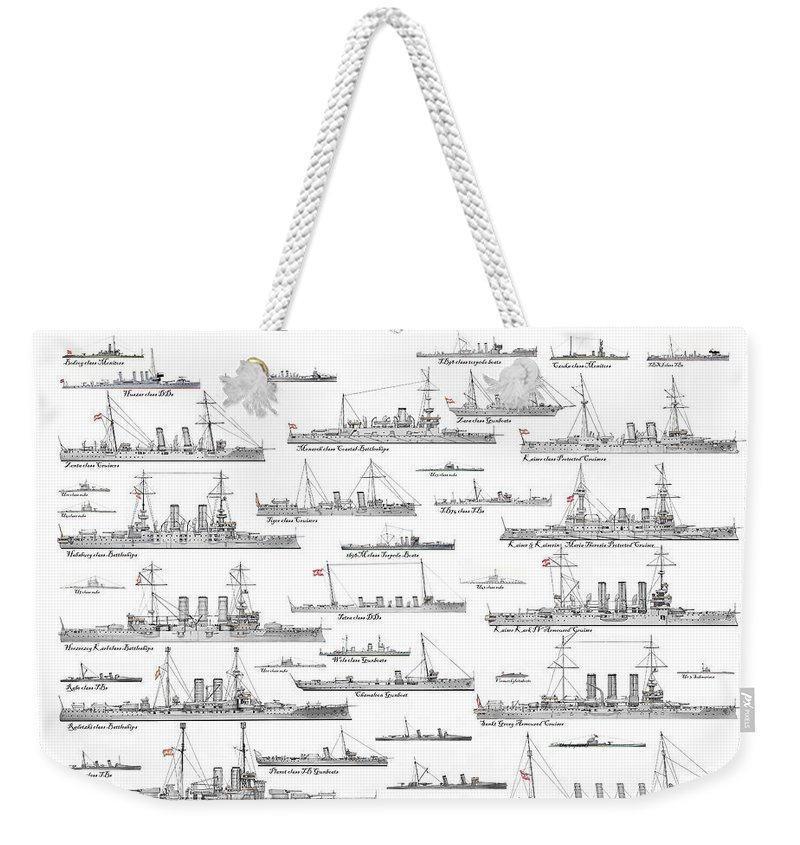Fleet Weekender Tote Bag featuring the painting Austro-hungarian Navy by The Collectioner