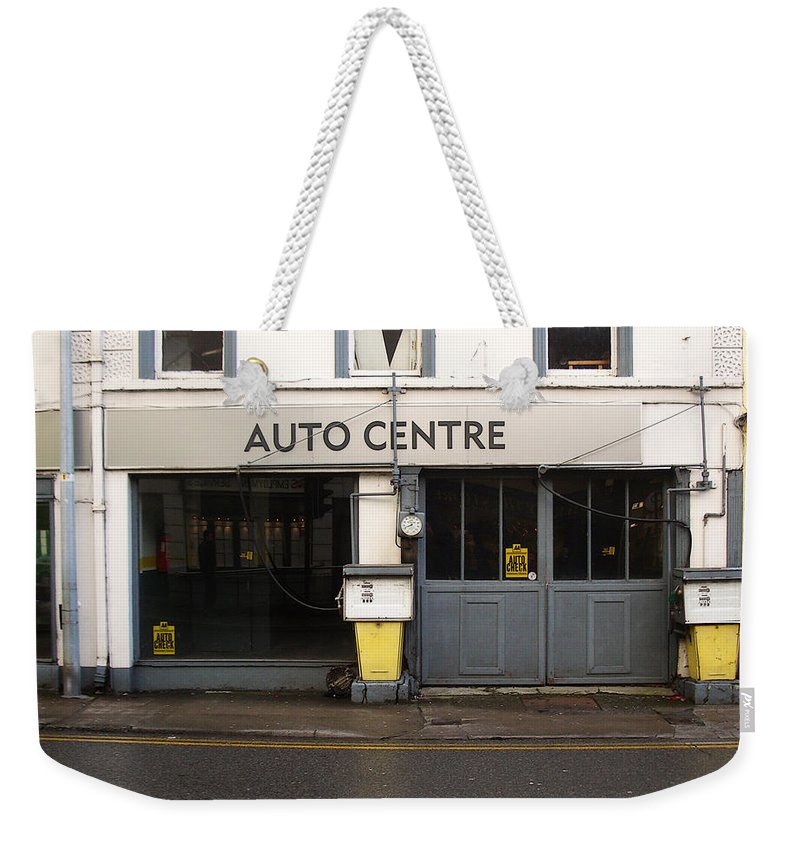 Auto Weekender Tote Bag featuring the photograph Auto Centre by Tim Nyberg