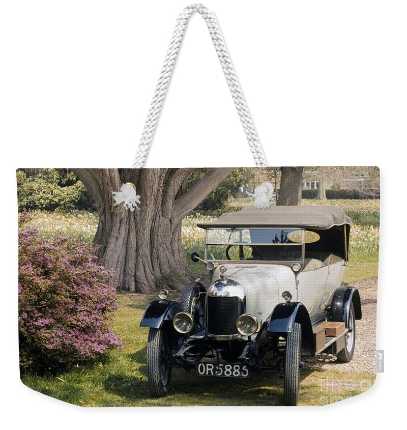1924 Weekender Tote Bag featuring the photograph Auto: Morris-cowley 1924 by Granger
