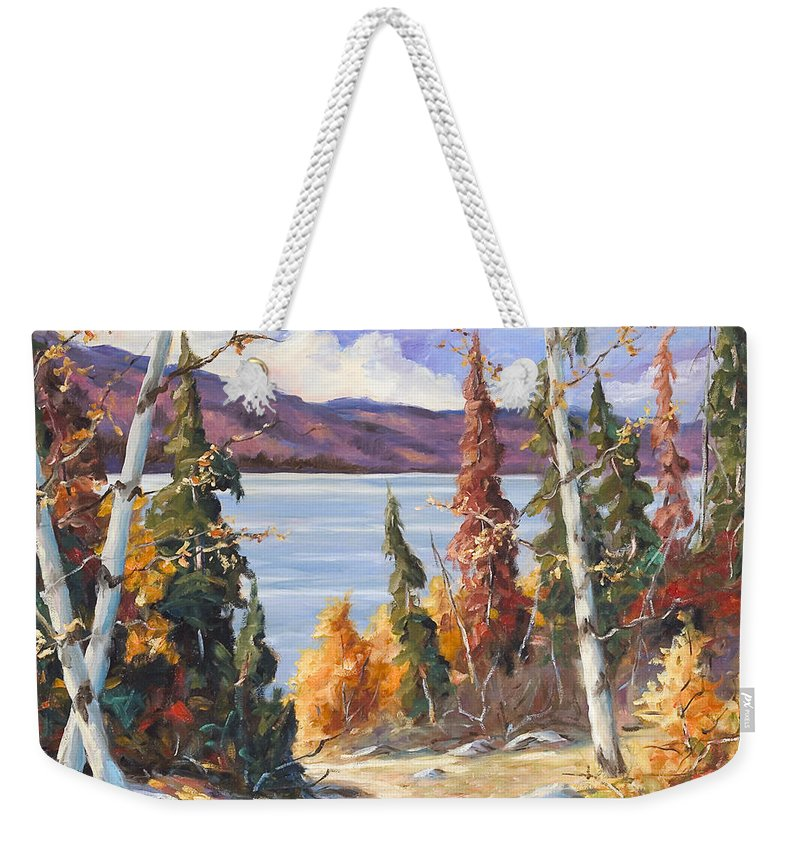 Art Weekender Tote Bag featuring the painting Automn Colors by Richard T Pranke