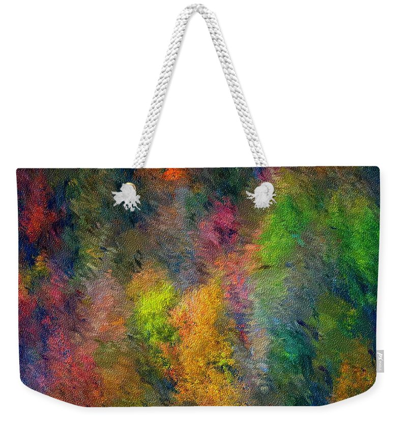 Landscape Weekender Tote Bag featuring the digital art Autum Hillside by David Lane