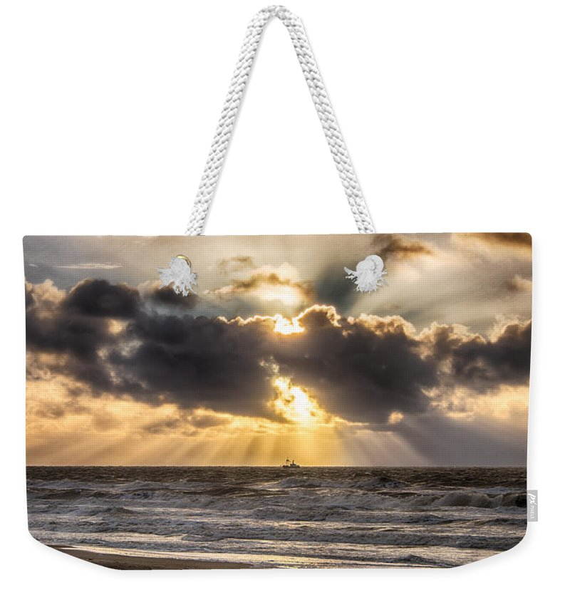 Autumn Weekender Tote Bag featuring the photograph Autum Storm 001 by Alex Hiemstra