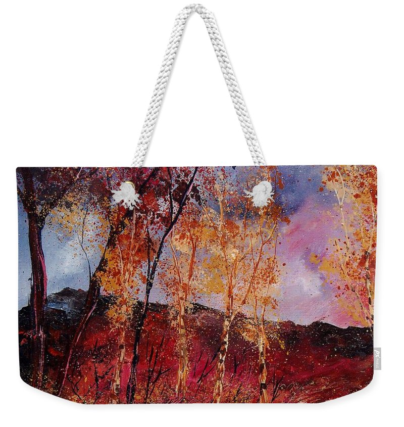 Tree Weekender Tote Bag featuring the painting Autumn 6712545 by Pol Ledent