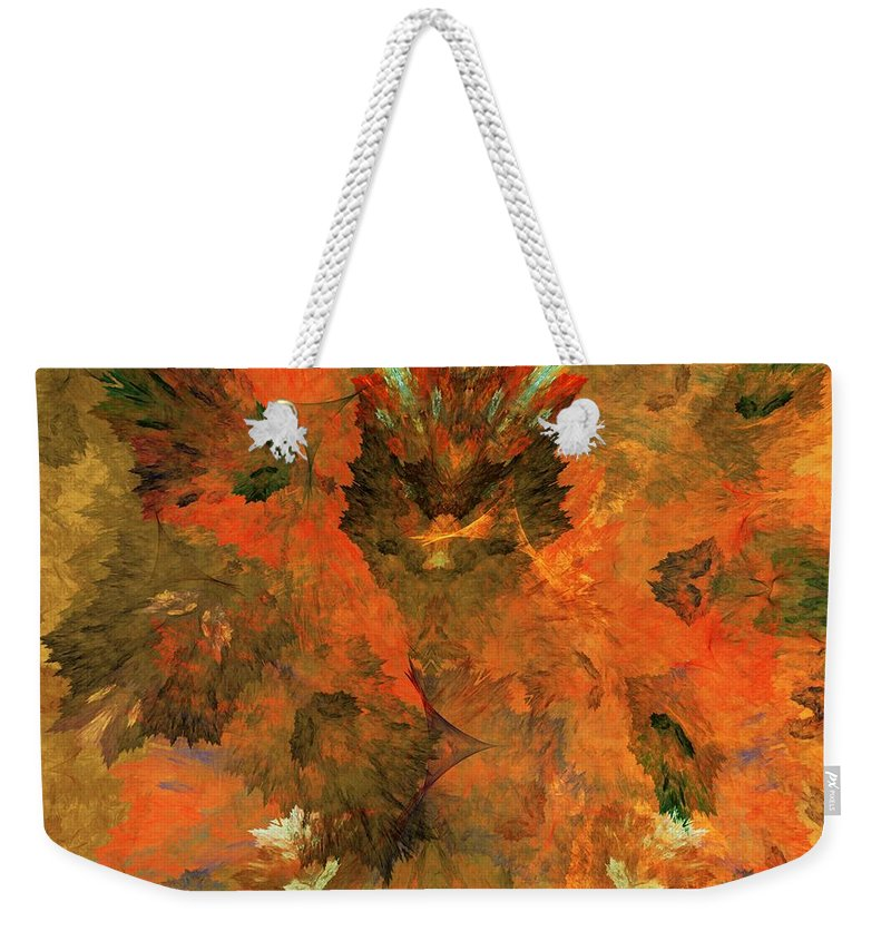 Fine Art Digital Art Weekender Tote Bag featuring the digital art Autumn Abstract 103101 by David Lane