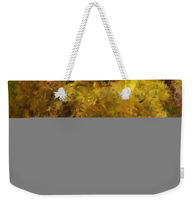 Abstract Digital Painting Weekender Tote Bag featuring the digital art Autumn Abstract by David Lane
