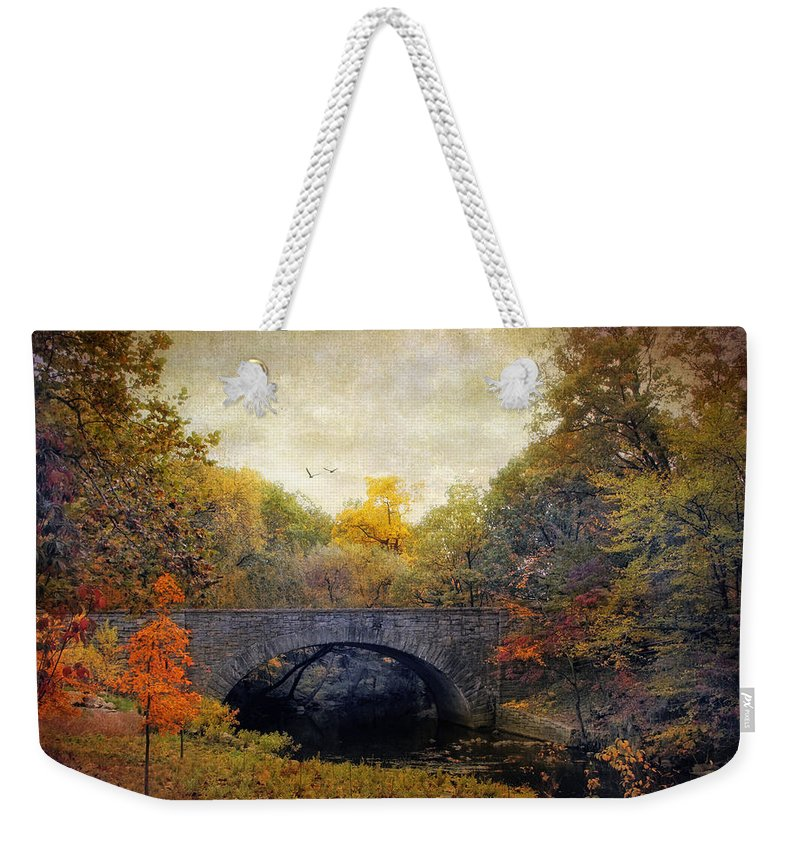 Nature Weekender Tote Bag featuring the photograph Autumn Ambiance by Jessica Jenney