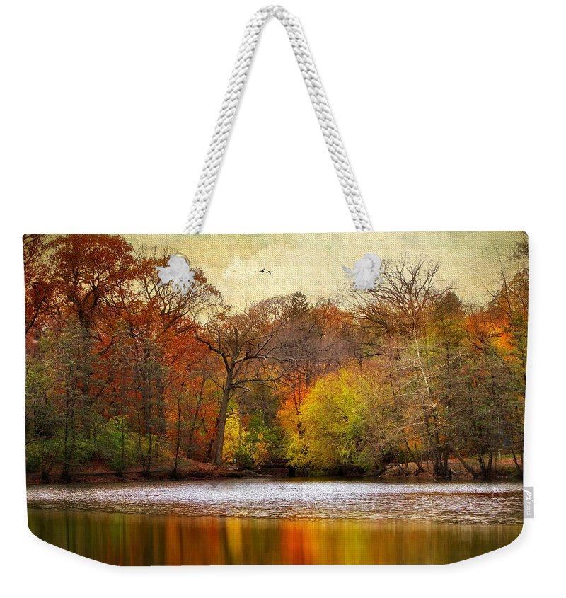 Autumn Weekender Tote Bag featuring the photograph Autumn Arises 2 by Jessica Jenney