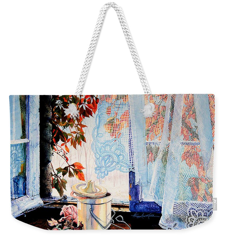 Autumn Aromas Weekender Tote Bag featuring the painting Autumn Aromas by Hanne Lore Koehler