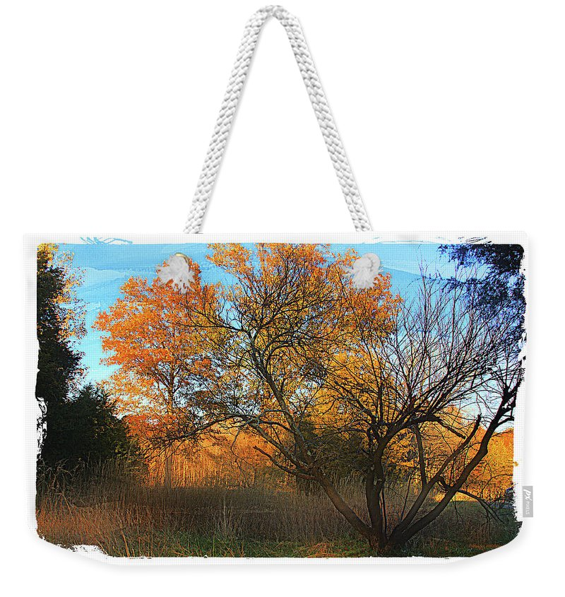Fall Weekender Tote Bag featuring the photograph Autumn At Bull Run by Margie Wildblood
