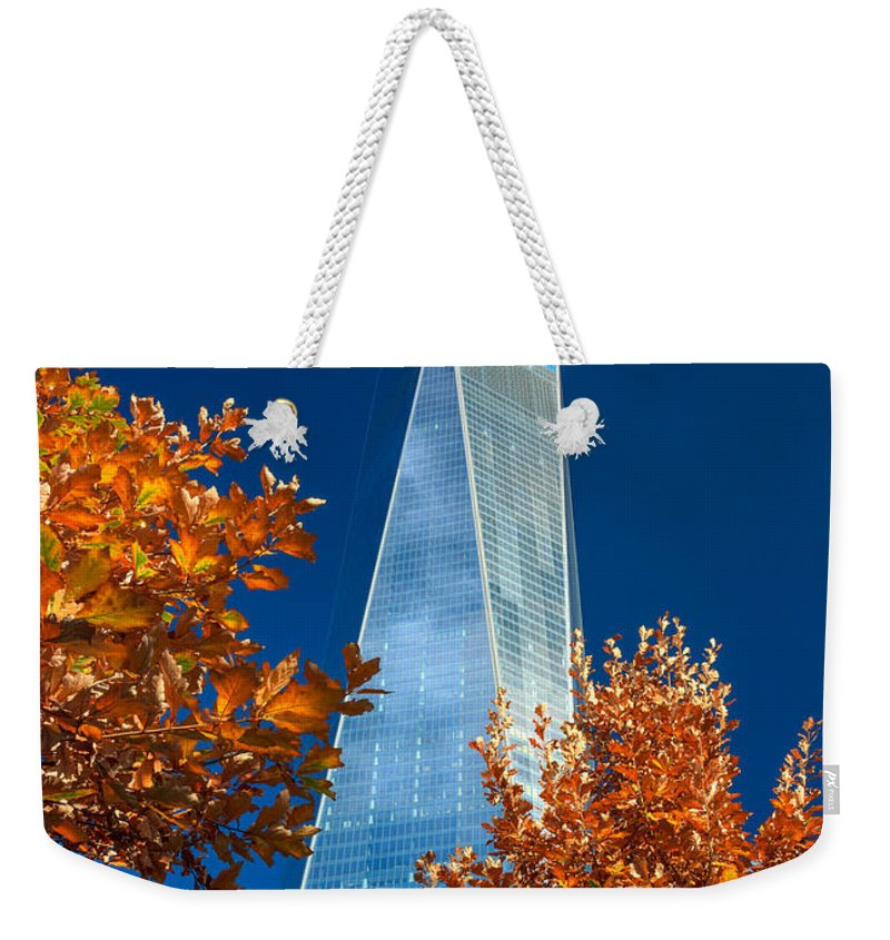 Nyc Weekender Tote Bag featuring the photograph Autumn At One Wtc by Rick Berk