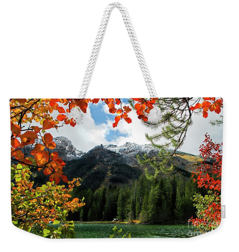 String Lake Weekender Tote Bag featuring the photograph Autumn At String Lake by Wildlife Fine Art