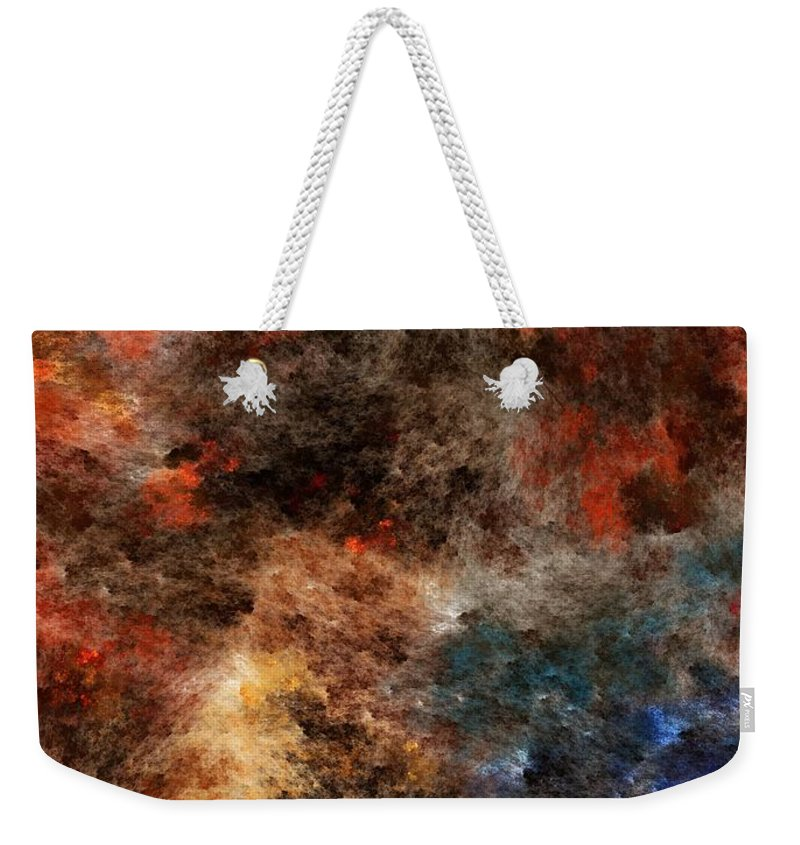 Abstract Digital Painting Weekender Tote Bag featuring the digital art Autumn Beauty by David Lane