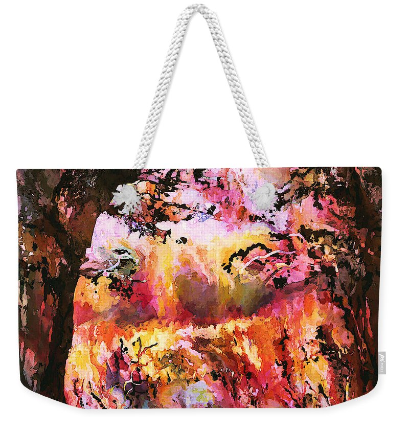 Autumn Weekender Tote Bag featuring the mixed media Autumn Beauty by Natalie Holland