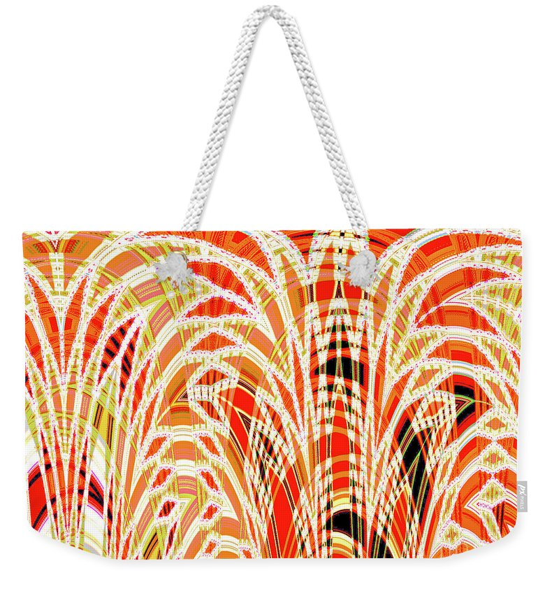 Autumn Weekender Tote Bag featuring the digital art Autumn Botanical Tapestry by Ann Johndro-Collins