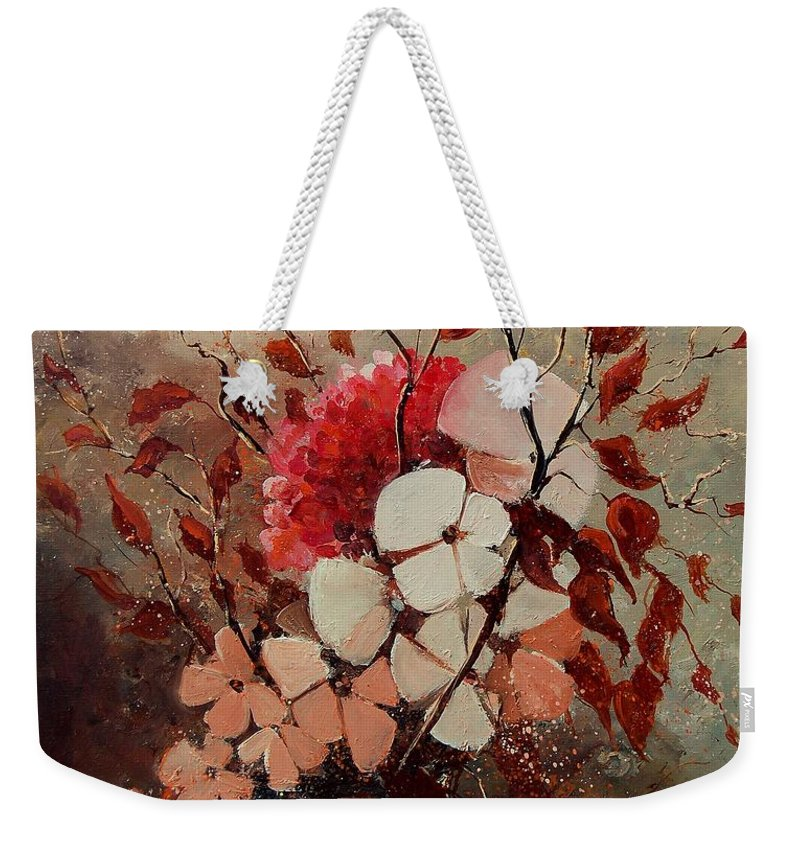 Flowers Weekender Tote Bag featuring the painting Autumn Bunch by Pol Ledent
