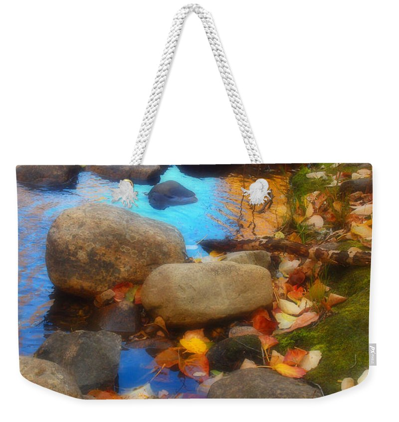 Autumn Weekender Tote Bag featuring the photograph Autumn By The Creek by Tara Turner