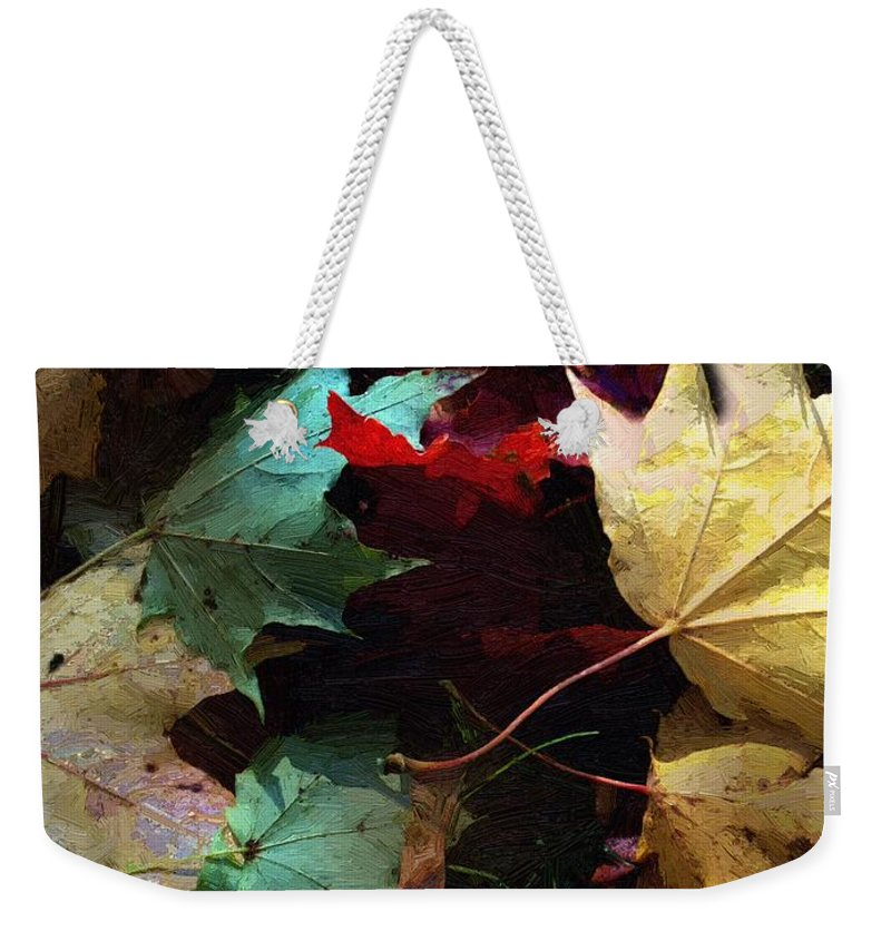 Autumn Weekender Tote Bag featuring the painting Autumn Carpet by RC DeWinter