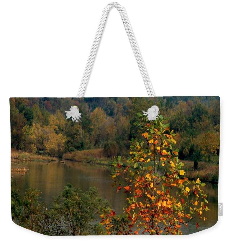 Fall Colors Weekender Tote Bag featuring the photograph Autumn Colors by Gary Wonning