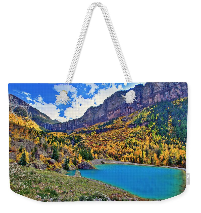 Colors Weekender Tote Bag featuring the photograph Autumn Colors by Scott Mahon