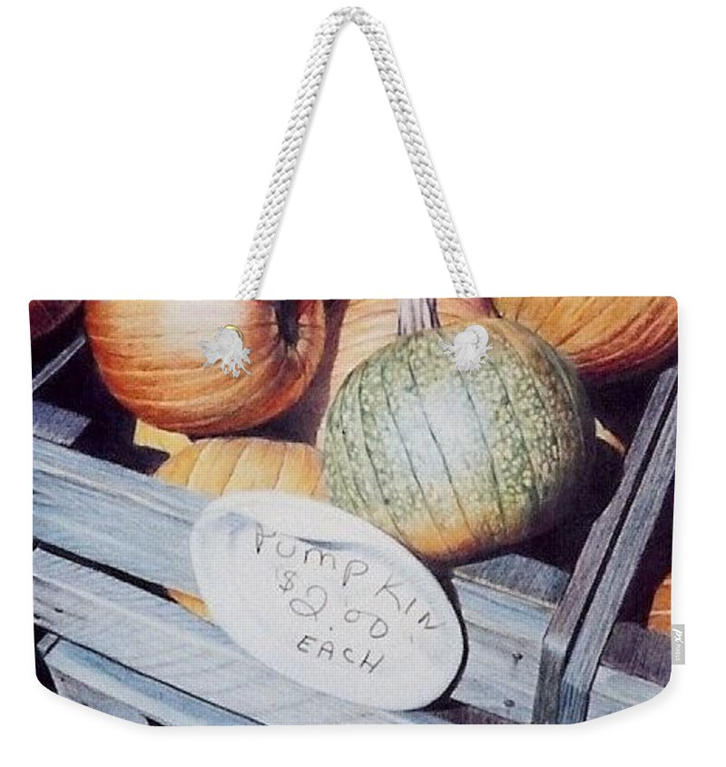 Orange Weekender Tote Bag featuring the painting Autumn by Constance Drescher