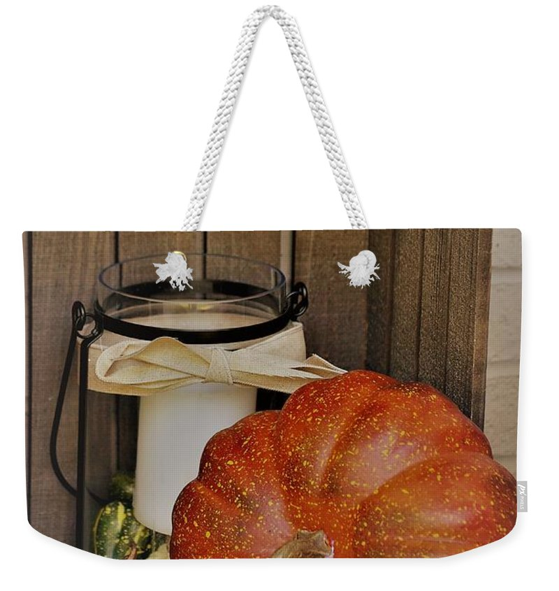 Autumn Weekender Tote Bag featuring the photograph Autumn Decor 2 by Erica Degni