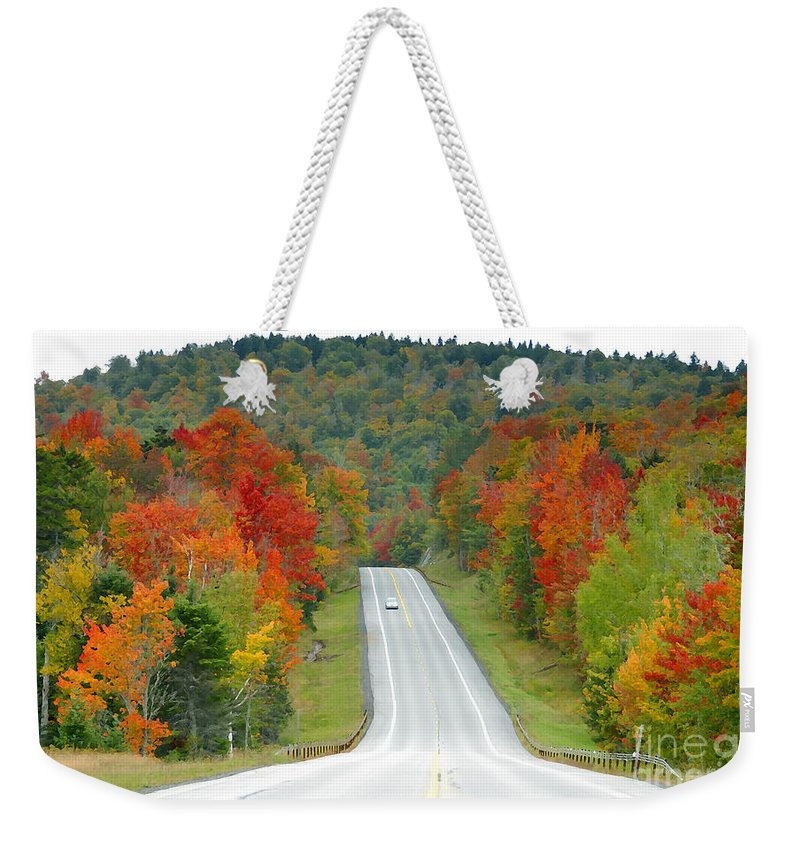Autumn Weekender Tote Bag featuring the photograph Autumn Drive by David Lee Thompson