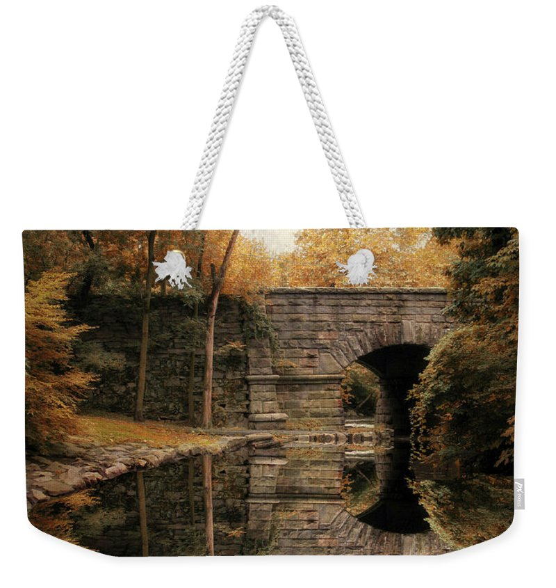 Autumn Weekender Tote Bag featuring the photograph Autumn Echo by Jessica Jenney